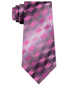 Van Heusen Men's Calvin Geometric Silk Tie