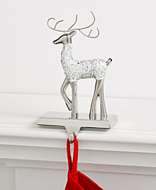 Holiday Lane Mosaic Reindeer Stocking Holder, Created for Macy's