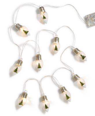 Christmas LED Bulb Garland, Created for Macy's