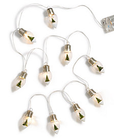 Martha Stewart Collection Christmas LED Bulb Garland, Created for Macy's