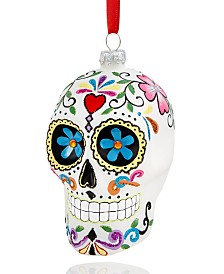 Holiday Lane Multi-Color Skull Ornament, Created for Macy's