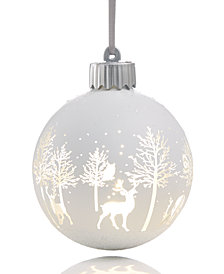 Holiday Lane LED Reindeer Silhouette Ornament, Created for Macy's