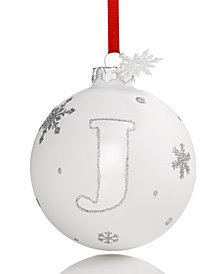 Holiday Lane Initial J Ball Ornament, Created for Macy's