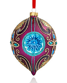 Holiday Lane Blue & Purple Reflector Onion Ornament, Created for Macy's