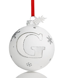 Holiday Lane Initial 'G' Ball Ornament, Created for Macy's