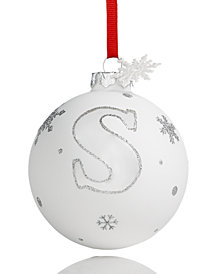 Holiday Lane Initial 'S' Ball Ornament, Created for Macy's