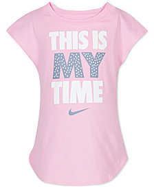 Nike Toddler Girls My Time Graphic-Print Cotton Shirt