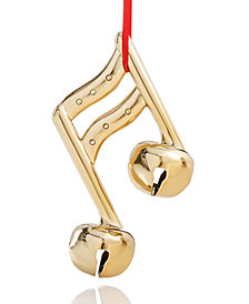 Holiday Lane Golden Musical Notes Ornament, Created for Macy's