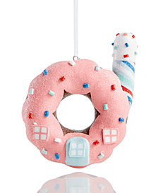 Holiday Lane Glass Donut House Ornament, Created for Macy's