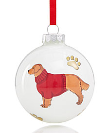 Holiday Lane Golden Retriever Ornament, Created for Macy's
