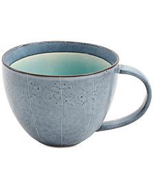 Gibson Elite Reactive Glaze Gray Striped Mug