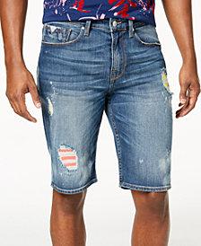 GUESS Men's Regular-Fit Destructed Denim Shorts