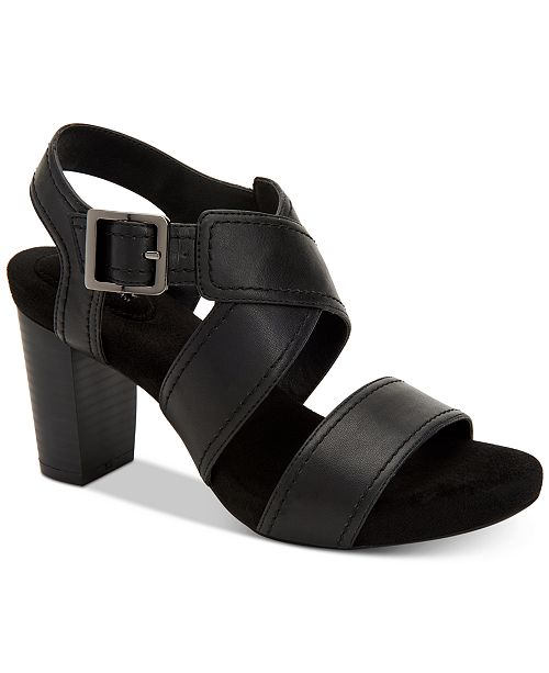 74b1eb8a62f90 Giani Bernini Janett Memory-Foam Block-Heel Dress Sandals ...
