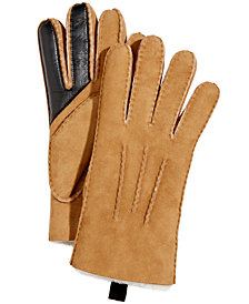 UGG® Men's Water-Resistant Leather Gloves