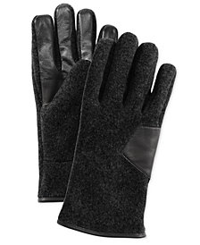 UGG® Men's Knit & Leather Gloves