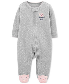 Carter's Baby Girls Purrfect Girl Footed Coverall