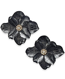 Thalia Sodi Two-Tone Crystal Flower Stud Earrings, Created for Macy's