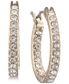 "Givenchy Pavé Extra Small 1/2"" Hoop Earrings"