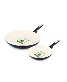 "GreenPan RIO 8"" & 10"" Ceramic Non-Stick Frypan Set"