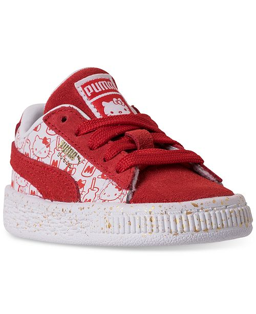 Puma Toddler Girls  HELLO KITTY Suede Classic Casual Sneakers from Finish  ... 7c93da8e2