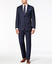 Tommy Hilfiger Men's Modern-Fit THFlex Stretch Blue Neat Suit