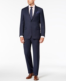 Tommy Hilfiger Men's Modern-Fit THFlex Stretch Blue Neat Suit