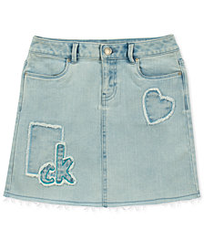 Calvin Klein Patch Denim Skirt, Big Girls