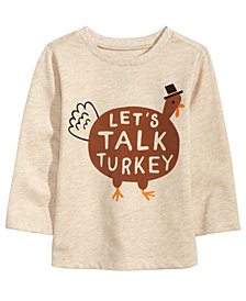 First Impressions Baby Boys Turkey-Print T-Shirt, Created for Macy's