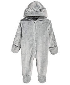 First Impressions Baby Boys & Girls Hooded Faux-Fur Footed Snowsuit, Created for Macy's