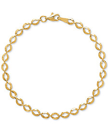 Open Link Reversible Bracelet in 14k Gold