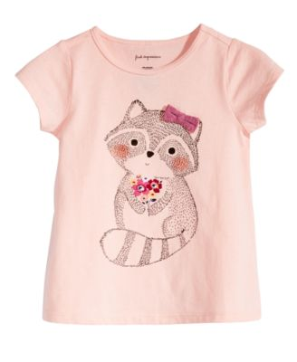 Baby Girls Racoon-Print T-Shirt, Created for Macy's