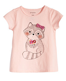 First Impressions Baby Girls Racoon-Print T-Shirt, Created for Macy's