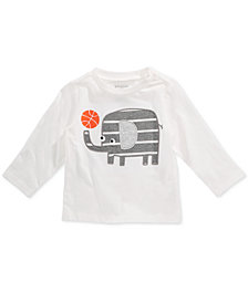 First Impressions Baby Boys Elephant-Print Cotton T-Shirt, Created for Macy's