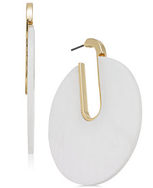 I.N.C. Gold-Tone Disc Hoop Earrings, Created for Macy's