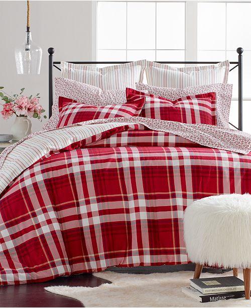 Martha Stewart Collection Winter Plaid Cotton Flannel Full