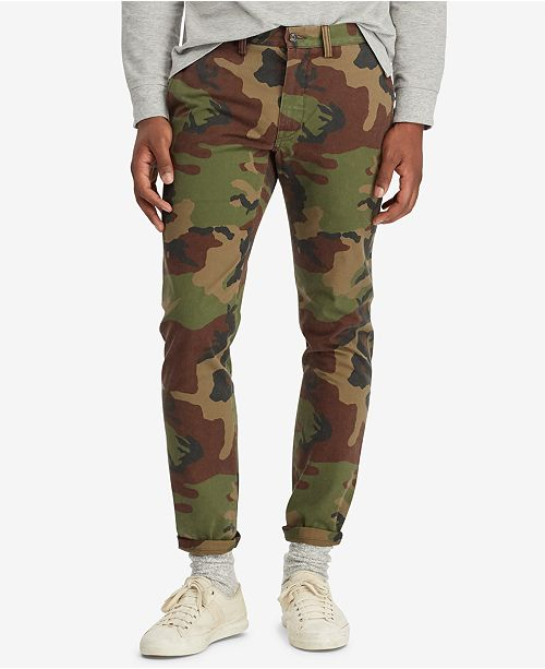 07c1a5362d522 Polo Ralph Lauren Men's Slim Fit Camouflage Cotton Chino Pants ...