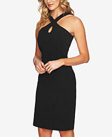 CeCe Crisscross Keyhole Dress
