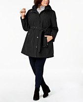 88d2bd0150b0 MICHAEL Michael Kors Plus Size Hooded Raincoat