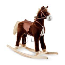 "Trademark Global Happy Trails Plush Rocking Horse, 32"" x 35.25"" x 11.875"