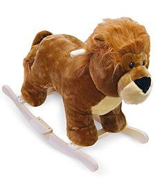 Trademark Global Happy Trails Lion Plush Rocking Animal