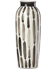 """Lenox Brushstrokes Striped 11"""" Vase"""