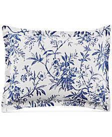 Martha Stewart Collection Cozy Toile Cotton Standard Sham, Created for Macy's