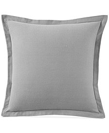 Martha Stewart Collection Grayscale Cotton Houndstooth European Sham, Created for Macy's