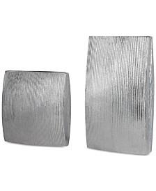 Darla Aluminum Vases, Set of 2