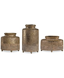 Kallie Metallic Golden Vessels, Set of 3