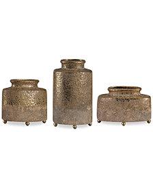 Uttermost Kallie Metallic Golden Vessels, Set of 3