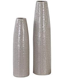 Uttermost Sara Textured Ceramic Vases, Set of 2
