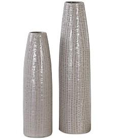 Sara Textured Ceramic Vases, Set of 2