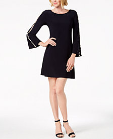 MSK Embellished-Sleeve Stretch Dress