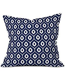 Deny Designs Aimee St. Hill Leela Navy Throw Pillow